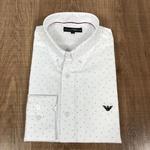 Camisa Manga Longa Armani Branco Detalhado