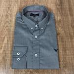 Camisa Manga Longa Armani Preto com listras brancas⭐