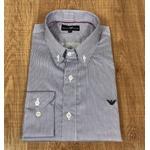 Camisa Manga Longa Armani Listrado Marinho e Preto