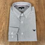 Camisa Manga Longa Armani Mini Listrado Marinho