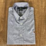 Camisa Manga Curta RL Azul Listras Preta