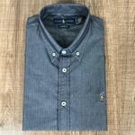 Camisa Manga Curta RL Cinza Escuro