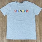 Camiseta Versace Cinza Claro Riscado