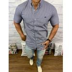 Camisa Social Manga Curta LCT DFC Azul marinho