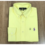 Camisa Manga Longa RL DFC Amarelo Cavalo Roxo