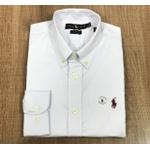 Camisa Manga Longa RL DFC Branco Cavalo Bordô