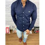 Camisa Social Manga Longa LCT Azul Marinho