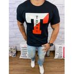Camiseta Tommy Hilfiger Diferenciada Preta