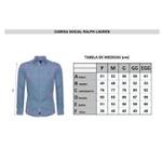 Camisa Manga Longa RL DFC Cinza Tom azul Logo Colorido