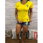 Camiseta Seleção Brasil - Tailandesa Feminina Promoção