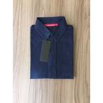 Camisa Social Jeans Manga Curta Rv