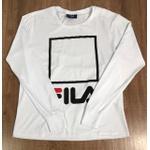 Camiseta Manga Longa Fila - Branca⭐