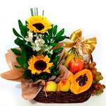 Alegria com Flores e Frutas