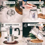 CAFETEIRA ALUMÍNIO TIPO ITALIANA 450ML PARA 09 XÍCARAS
