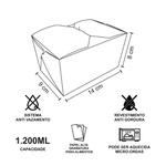 -EMBALAGEM BOX ANTIVAZAMENTO 1200ML PERSONALZADO - 2000 UNIDADES