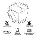 EMBALAGEM BOX ANTIVAZAMENTO YAKISOBA COMIDA JAPONESA 1000ML PERSONALIZADO - 2000 UNIDADES