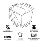 EMBALAGEM BOX ANTIVAZAMENTO YAKISOBA COMIDA JAPONESA 800ML PERSONALIZADO - 1000 UNIDADES