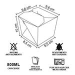 EMBALAGEM BOX ANTIVAZAMENTO YAKISOBA COMIDA JAPONESA 800ML PERSONALIZADO - 3000 UNIDADES