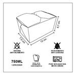 EMBALAGEM BOX ANTIVAZAMENTO 750ML KRAFT GOURMET- 50 UNIDADES