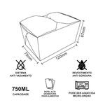EMBALAGEM BOX ANTIVAZAMENTO KRAFT GOURMET 750ML - 50 UNIDADES