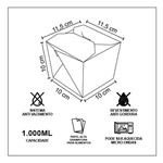 EMBALAGEM BOX ANTIVAZAMENTO YAKISOBA COMIDA JAPONESA 1000ML PERSONALIZADO - 1000 UNIDADES