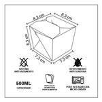 EMBALAGEM BOX ANTIVAZAMENTO YAKISOBA COMIDA JAPONESA 500ML PERSONALIZADO