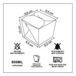 EMBALAGEM BOX ANTIVAZAMENTO YAKISOBA COMIDA JAPONESA 800ML - 50 UNIDADES