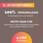 -CAIXA PARA FRITURAS DELIVERY MÉDIA PERSONALIZADA - 4000 UNIDADES