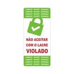 ETIQUETA LACRE DE SEGURANÇA VERDE MOD2 - 240 UNIDADES