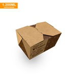 EMBALAGEM BOX ANTIVAZAMENTO 1200ML KRAFT GOURMET- 50 UNIDADES