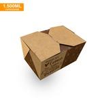 EMBALAGEM BOX ANTIVAZAMENTO KRAFT GOURMET 1500ML - 50 UNIDADES