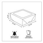 CAIXA BOX COM VISOR PARA SUSHI MÉDIA BRANCA 50 Unidades