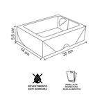 CAIXA BOX COM VISOR PARA SUSHI GRANDE PERSONALIZADA - 5000 UNIDADES