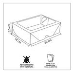 CAIXA BOX COM VISOR PARA SUSHI GRANDE-50 UNIDADES