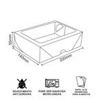 CAIXA BOX COM VISOR PARA SUSHI - G - 50 UNIDADES