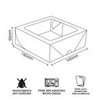 CAIXA BOX COM VISOR PARA SUSHI MÉDIA - 50 UNIDADES