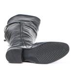 Bota Over The Knee Conforto Couro Legítimo Preto