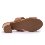 Sandália Feminina Retrô Cacoa em Couro Legítimo Chocolate