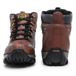 Bota Caterpillar 2113 Avelã + Boné Trucker CAT Preto + Carteira