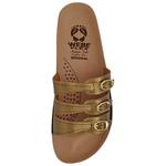Sandália Ortopédica Webe Flex Super Conforto 3 Tiras Dourado