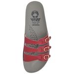 Sandália Ortopédica Webe Flex Super Conforto 3 Tiras Vermelho