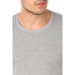 Camiseta Masculina Lisa - Cinza Mescla