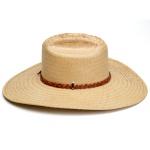 Chapéu de Palha Modesto C/ Tira Caramelo