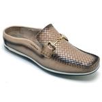Sapato Mule Em Couro Cor Ocre