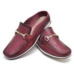 Sapato Mule Em Couro Cor Bordô - AL8001-LT0033