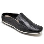 Sapato Mule Em Couro Cor Preto