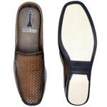 Sapato Mule Em Couro Cor Taupe