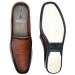 Sapato Mule Em Couro Cor Telha