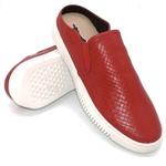 Slip On Austin Trisse Couro Vermelho Império - At2105-vermelho