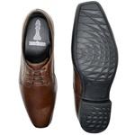 Sapato Social Roma em Couro Chocolate Calçados Império